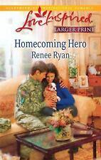 Larger Print Love Inspired: Homecoming Hero by Renee Ryan (2010, Paperback,...