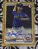 2020 Bowman GOLD Autograph #24/50 Briam Campusano Mets Rc Rookie Prospect Auto