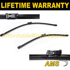 """DIRECT FIT FRONT AERO WIPER BLADES PAIR 24"""" + 20"""" FOR AUDI A4 ALLROAD 2009 ON"""