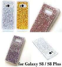 Samsung Galaxy S8 / S8+ Plus - TPU Rubber Gummy Shiny Glitter Bling Sequin Case