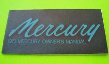 Original 1973 MERCURY OWNER MANUAL Full Sized Cars UNUSED - FACTORY NOS nr-Mint