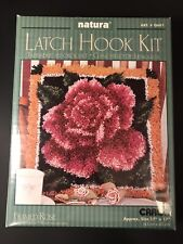 "Natura Latch Hook Kit - Caron - Framed Rose - # Q601 - 17"" x 17"" - Brand New"