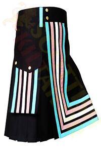 2021 SALE Trance Flag Kilt Black & Trance Flag Color Regular & Custom Size Kilts