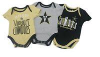 Vanderbilt Commodores NCAA Baby Infant Size 3 Piece Creeper Bodysuit Combo Set