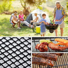 BBQ Non-Stick Mesh Grill Grid Mat Barbecue Outdoor Camp Cooking Sheet Camping
