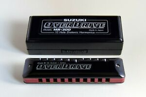 Suzuki Harmonica Overdrive MR-300 Professional 10-Hole Diatonic in D
