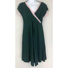 Kimi + Kai Maternity Womens Faux Wrap Nursing Dress Green Pink Laces Stretch XS