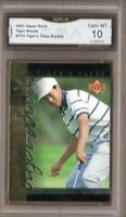 GMA 10 Gem Mint TIGER WOODS 2001 UD Upper Deck TIGER's TALES ROOKIE Insert TT#2