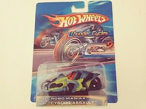 2004-Hot Wheels-Thunder Cycles-Robo Maniax Cyborg Assault-Boys-3+
