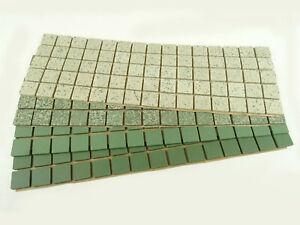 20mm Unglazed Porcelain Mosaic Tiles, The Greens 300 Tile Pack