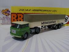 """Brekina 71808 - LIAZ 706 Pritschen-Sattelzug """" Wernesgrüner Bier """" 1:87  NEUHEIT"""