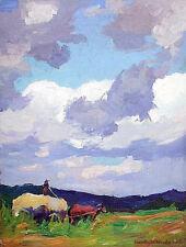 "Rockport, Massachusetts Oil Painting STANLEY WOODWARD 'Farm Scene', 16"" x 12"""