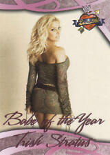 TRISH STRATUS wwe BABE OF THE YEAR trading card 2004 #80 * Hard To Find! *