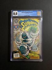 SUPERMAN: THE MAN OF STEEL #18 (12/92) (W/P) CGC 8.0 NEW CASE!