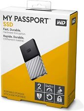 WD 2TB My Passport SSD External Portable Drive Type C - USB 3.1, Up to 540 MB/s