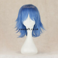 Medium flick cosplay costume wig in cobalt blue, UK SELLER, Ash style