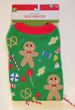 Christmas Pet Costume Ugly Sweater Size Medium Green - Candy Canes - Warm - New