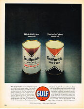 Vintage 1963 Magazine Ad Gulf Motor Oil Slogan is The Worlds Finest Motor Oil