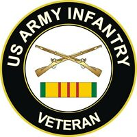 "Army Infantry Vietnam Veteran 5.5"" Window Sticker Decal"