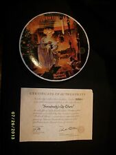 Bradford Exchange Plate Norman Rockwell Somebody'S Up There ~ 1979 Cp24