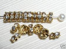 200 Swarovski Rondelle Spacer Beads 6mm Gold / Crystal