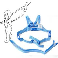 Baby Kid Toddler SAFETY HARNESS Learning Walk Assistant Walking Reins Light Blue