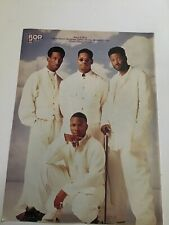 Vintage 90s' Pinup Boyz II Men + Immature Teen Magazine 1 Page Pin-Up Color