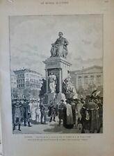 1887 HONGRIE BUDAPEST STATUE DEAK S.M FRANCOIS-JOSEPH DESSIN TINAYRE