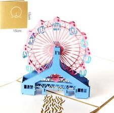 3D Pop Up Card Ferris Wheel Baby Birthday Child Gift Greeting New Hot Cards