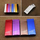 Lady Women Slim Aluminum Cigarette Case Metal Holder Box King's Cigarettes Gifts