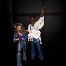JIMI HENDRIX & JANIS JOPLIN WOODSTOCK 1969 - MCFARLANE TOYS - USATO