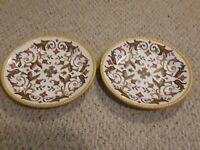 Pier 1 ORALIA: Set of 2 Dinner Plates New Without Tags 12 1/4 inches Beautiful