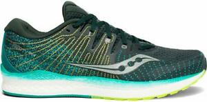 Saucony Men's Liberty ISO 2 Running Shoe, Green/Teal, 12 D(M) US