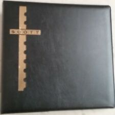 "Scott Cover Album Black Padded Binder 10"" x 9-1/2"" (Pages sold separately)"