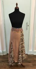 Indian vintage brown handmade skirt with sequin detail size L