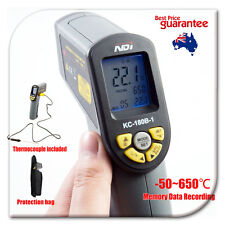 -50~650 Celsius Portable Digital Infrared Thermometer + Probe + Data Recording