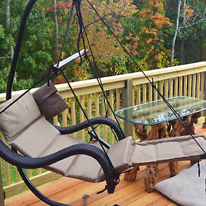 Deluxe Wicker Lounger Airchair - Choose Your Color! ...See Color Options