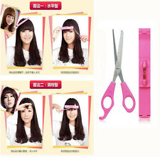 Front Bangs Trimmer Supporter Hair Fringe Cut Off Storage Box Salon Styling Tool