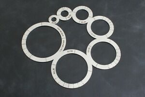 Steel Leather Corner Cutting Ruler Circles Stencil Leather Craft Template Circle