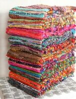 Indian Handmade Cotton Rag Rug Throw Living Room Dhurrie Bohemian Yoga Mat 3x5'