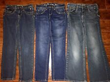 3 GIRLS JEANS SIZE 8 1/2 Plus ALL JUSTICE Jeggings Super Low Back 2 School