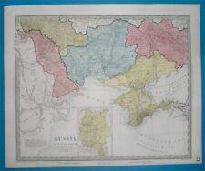 1849 RARE NICE ORIGINAL MAP UKRAINE MOLDAVIA CRIMEA ODESSA PODOLIA KHERSON