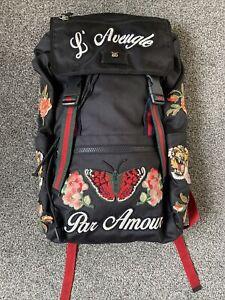 Gucci L'aveugle Par Amour Backpack 100% Authentic RRP £1300 RARE