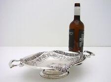 Trompe L' Oeil Austrian Sterling Silver Cake Basket Bowl Pedestal Bowl Maker G&S