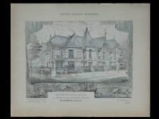 JOINVILLE LE PONT, HOTELS PARTICULIERS 1906 - PLANCHES ARCHITECTURE - BOURNIQUEL