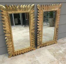Wall Mirror Art Modern Hanging Sculpture Timber Wood Gold Frame beautiful