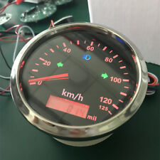 85mm Stainless Steel GPS Speedometer 125km/h Odometer For Motorcycles Car Truck