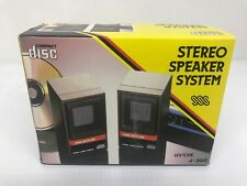 Vintage Mini Stereo Speaker System Uni-tone J-300 For Portable Cd Player/walkman