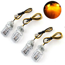 4X Motorcycle 12V 6 LED Mini Dirt Bike Turn Signal  Light Blinker Indicator Lamp