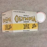 VTG 1970'S OLYMPIA BEER BOTTLE 6 PACK STORE PRICE SIGN DECAL STICKER  .